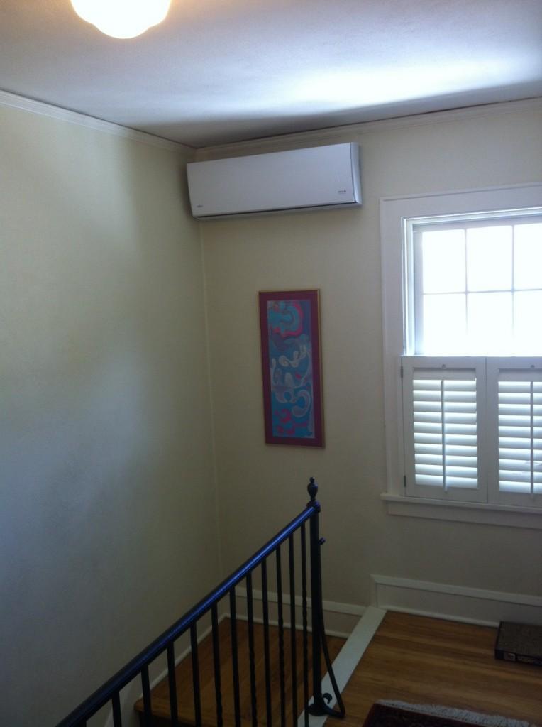 heating or cooling system minisplit hallway