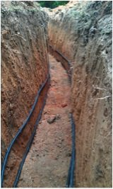 Polyethylene Pipe in Trench